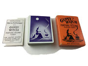 Vintage Halloween Gypsy Black Witch Fortune Telling Playing Cards Rare