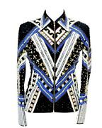 Women Western Formal Equestrian Riding Show Wear Jacket Rail Shirt Rodeo Queen