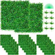 48pcs 10x10 Wall Hedge Decor Privacy Fence Panel Grass Artificial Boxwood Mat