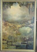 Weldon Oil On Canvas Death And Rebirth 1960s Expressionism Surrealism