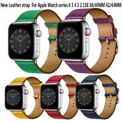 Leather Single Tour Strap Band Bracelet For Apple Watch Series 6/5/4/se 40/44mm