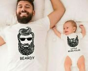 Daddy And Baby Matching Shirts Beardy Beard Puller Outfit T-shirt Bodysuit Gift