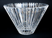 Orrefors Sweden Fluted Ribbed Heavy Crystal Glass Clear Bowl Signed