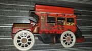 Old Vintage Tin Wind Up Orobr Co. Auto Bus Toy From Germany 1930
