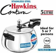 Hawkins Contura Stainless Steel Pressure Cooker For Induction Gas And Electric