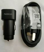 Genuine Nokia Dc-301 Dual Port 3.4a Car Charger And Micro Cable For Nokia Phones