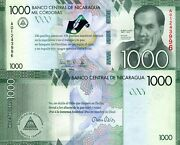 Nicaragua 1,000 Cordobas Banknote World Paper Money Unc Currency Pick P216 2016