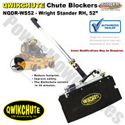 Qwikchute Deflector For Wright Stander And Stander Rh 52 Mower Decks / Nqdr-ws52