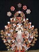 Mexican Pottery Day Of The Dead Tree Of Life Candle Holder