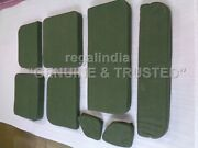 Od Checks Canvas Seat Cushion Set For Military Jeep Ford Willys Mb Gpw 1941-48