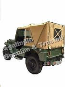 Stitched Canvas Soft Top For Jeep Willys Cj2a Cj3a 1947-1953 Black,khaki And Brown