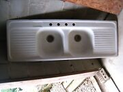 Vintage 1951 Kohler Country Farm Double Sink With Double Drain Boards Local P/u