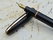 Stylomine 303 Vintage Small Black/gt Fountain Pen Made In France