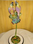 Jay Strongwater Holder Stand Butterflies Crystals 13 Tall