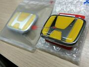 Honda S2000 Yellow Front And Rear Emblem Badge Ap1 Ap2 Genuine 75700-s2a-000zf