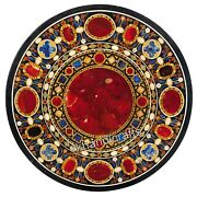 Dining Table Top Inlaid With Gemstone Marble Meeting Table Elegant Look For Home