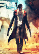 Devil May Cry 5 Dante Leather Jacket Men's Jacket Long Coat Trench