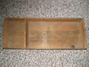 Very Old Factory Used / Hamilton Watch Co. Wooden Sorting Tray Awesome And Rare.