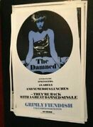 The Damned 'grimly Fiendish' Merchandising Poster