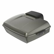 Industrial Gray Chopped Tour Pak Pack 2-up Mounting Bracket Rack For 97+ Harley