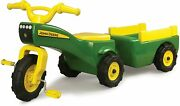 Kids Ride On Tricycle Bike Gifts Boys Toys John Deere Pedal Tractor Wagon Green