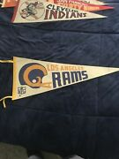 Vintage 1960s Large 30 Inch Los Angeles Rams Football Pennant-tlc Cond
