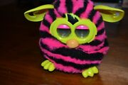 2012 Hasbro Furby Boom Pink And Black Stripes Interactive Toy
