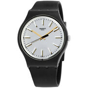 Swatch Metallix Passe Partout Grey Dial Silicone Strap Unisex Watch Suob132