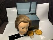 Vintage Kayser Mannequin Head Cosmetology Beauty School Display Carry Case Wow