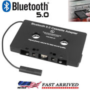 Bluetooth In Car Audio Tape Cassette Adapter Converter For Iphone Android Mp3 Cd