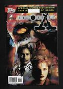 Xfiles Signed Topps 2 Comic - A Dismembrance Of Things Past - Rare