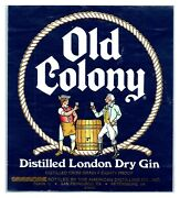 Old Colony Dry Gin Bottle Label L10