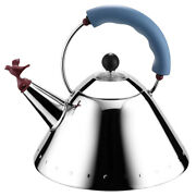 New Alessi Michael Graves Kettle With Bird Whistle Blue