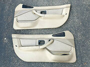 96-99 Bmw Z3 Roadster Front Left Right Door Panel Pair Beige Tan Leather Oem