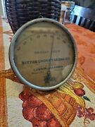 Rare Early 1900s Ritter Undertaking Advertising Thermometer Lawton Oklahoma