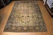 Circa 1930and039s Antique Tabris Rug 9and039x12and039 Traditional Vintage Oriental Rug Stressed