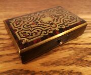 Simply Stunning And Collectible Victorian Sewing Etui With Boulle Decoration C1875