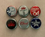 Vintage Old Retro Antique Budweiser And Miller Beer Bottle Caps Collectible Lot