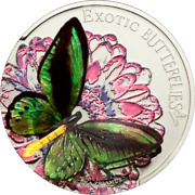 Tokelau 2012 5 Dollars Butterfly In 3d 1 Oz Silver Proof Coin With Coa + Box