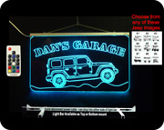 Personalized Custom Jeep Sign Garage Sign Man Cave Sign