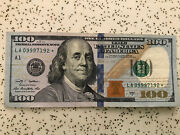 Star Note 2009 A One Hundred 100 Dollar Bill 100 Fancy Serial Number Triple