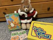 Vtg 80s Teddy Ruxpin Bear 4 Cassette, 3 Books, Puzzle Tested Works Rare Toy 🧸