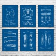 Hunting Patent Posters Set Of 6 Hunting Wall Art Hunter Gift Duck Hunting Decor