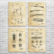 Duck Hunting Patent Posters Set Of 4 Hunting Wall Art Hunter Gift Vintage Decoy