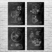 Movie Theater Patent Posters Set Of 4 Actor Gift Filmmaker Hollywood Movie Room