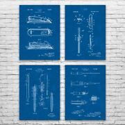 Office Supply Patent Posters Set Of 4 Boss Gift Office Art Secretary Gifts