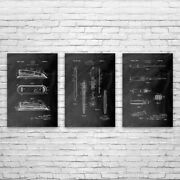 Office Supply Patent Posters Set Of 3 Boss Gift Office Art Secretary Gifts