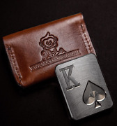 Muck Monkeys Poker Card Guard Protector Casino Chip King Of Spades Case Included