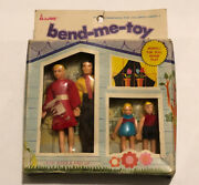 Vintage Hong Kong Bend-me-toy Family By Major No. 1-792. Miner Industries Ny