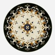 Stone Patio Table Top Mosaic Art Dining Table With Intricate Work For Home Decor